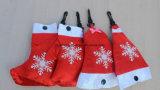 Sacchetto di acquisto promozionale di piegatura pieghevole di Polyster del reticolo dei calzini dei guanti della Bell del cappello di natale di natale