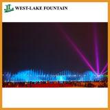 Fuente de agua colorida controlada del laser de la música grande