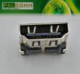Вертикальный разъем Plug-in 19pin женский HDMI для памяти PC/Notebook/STB/TV/HDTV/DV/MID/Removable
