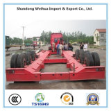 Fuwa 3개의 차축 트레일러 50 톤 반 트럭 트레일러 Lowbed