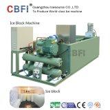 A máquina de gelo faz o gelo de bloco