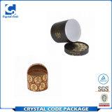Boîte-cadeau ronde de cylindre d'excellente impression de qualité
