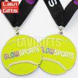 Изготовленный на заказ поставка производителей медали металла плиты золота играет главные роли медаль сувенира спорта тенниса призовое с талрепами высокого качества