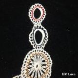 guarnizione del ricamo tessuta Neckline floreale del testo fisso del merletto del collare del Crochet del cotone di colore di 31*27cm Muiti con la frangia del cerchio per la signora Garment Accessories Hm206