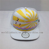 Gorra de béisbol de encargo del acoplamiento de Camo con la impresión de goma 3D