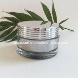 Vaso crema acrilico d'argento popolare 30g per l'imballaggio dell'estetica (PPC-NEW-131)