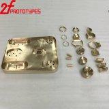高精度の真鍮の金属の切断のプロトタイピングCNC機械部品