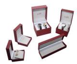 Caixa de relógio feita sob encomenda de couro plástica do presente Box/PU do relógio de pulso do escudo