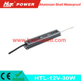 fuente de alimentación de aluminio de 12V2.5A LED para el programa piloto flexible IP67 de la tira LED