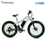 Bici eléctrica del neumático de la playa de la montaña gorda de la nieve con el motor del engranaje 1000W