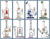Fabricante de vidro China Hbking New Arrival Art Glass Tubo de água, óleo DAB Rig Recycler Percolator Beaker Glass Smoking Pipe