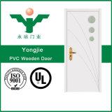 Portes de PVC de modèle de puits de qualité d'usine, prix bas de portes de PVC de HDF (WFP-027)