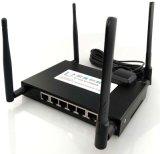 M2m industriais Lte 4G Dual router sem fio do router 4G WiFi da ranhura para cartão de SIM com 5 portas do LAN e porta do USB, router do armazenamento de cartão do SD da sustentação