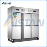 Gabinete comercial de Refridgerated do congelador da cozinha da porta de Mld-16z6a 6 para o equipamento da cozinha