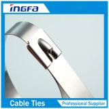 Tipo non rivestito fascette ferma-cavo 300X4.6 della serratura della sfera di rullo dell'acciaio inossidabile