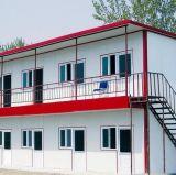 Casa prefabricada de acero de la pared blanca