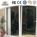 2017 porte en verre en plastique de la fibre de verre bon marché UPVC des prix d'usine de coût bas avec le gril à l'intérieur