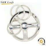De hete Sleutelring van het Embleem van het Ontwerp van het Metaal van de Gift van de Verkoop Promotie Zilveren