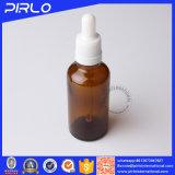 Bouteille en verre de compte-gouttes de couleur ambre chaude de vente pour l'huile essentielle