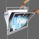 Il doppio ha parteggiato Advertizing Casella chiara del LED con il blocco per grafici di cristallo
