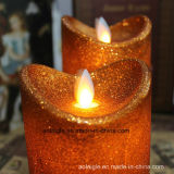 Kerze des Aufflackern-Tanz-Ölerfilz-Paraffinwachs-LED
