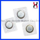 magnete Single-Sided di Permanent N35 NdFeB di 19*2mm con il PVC per Clohthing