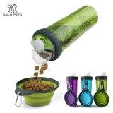 Бутылка воды еды портативной собаки перемещая с складывая шаром