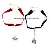 新しい方法簡単なリボンの星の吊り下げ式の女性の吊り下げ式のネックレス
