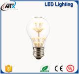 Les quirlandes électriques SAA A19 2W E27 de DEL chauffent l'ampoule blanche de DEL Edison