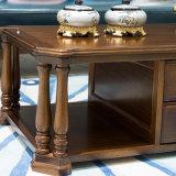 Tavolino da salotto lungo di legno di stile americano per mobilia domestica (AS841)