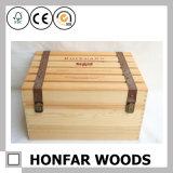 6개의 병 목제 포장 상자 나무로 되는 포도주 상자 선물 상자