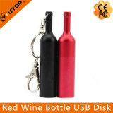 ワイン醸造所のギフトのカスタムロゴの金属の赤ワインのびんUSB Pendrive (YT-1216-02)