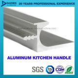 Perfil de alumínio para o punho do gabinete de cozinha com cor diferente