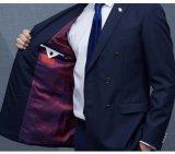 Spätester Form-Marine-Blau-Doppeltes Breasted Mantel keucht Mens-Klagen