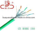 Оплетка CAT6A 550MHz S/FTP над кабелем аудиоего разъема кабеля незаслоненный пары/связи кабеля данным по кабеля компьютера