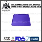Placa azul do Roasting do esmalte do ferro de molde da forma do quadrado da cor