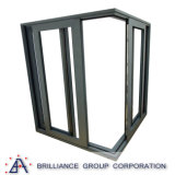 Porte en aluminium coulissante triple en aluminium de porte coulissante de couleur multicolore