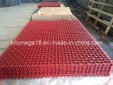 Высокуглеродистой гофрированная сталью сетка экрана с красным цветом