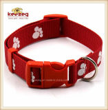 Qualitätsmaterielle Drucken-Tatze-Haustier-Nylonmuffen/leuchtende Hundehalsring-Leine-Verdrahtung (KC0114)