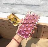 Célula líquida de la impresión de la historieta de la arena/cubierta del teléfono móvil para el iPhone 6s