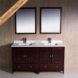 Governo moderno di vanità della stanza da bagno del doppio dispersore di legno solido di Fed-1073b