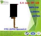 """écran de TFT LCD de 5.0 """" 480X800 Mipi, Ili9806e, 25pin pour la position, sonnette, médicale"""