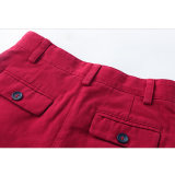 Moda Regular Fit Chili Pepper Plain algodón muchachas de los cabritos Pantalones cortos