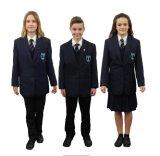 Uniforme scolastico all'ingrosso di disegno della giacca sportiva di prezzi di fabbrica