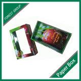 Rectángulo acanalado de la fruta del cartón de la fruta y verdura fresca de la cereza
