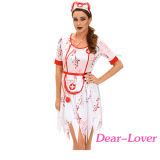 schreckliches Krankenschwester-Kostüm des Zombie-3PCS