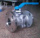 Vávula de bola de acero inoxidable del ANSI con el engranaje