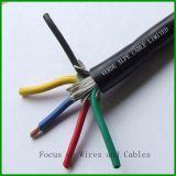 Câble isolé par PVC à plusieurs noyaux de câblage cuivre