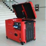 バイソン(中国) OEMの工場BS6500dsec 5000W 5kv銅線の空気によって冷却される信頼できる携帯用ディーゼル電気発電機5kw