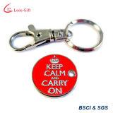 공장 주문 로고 금속 트롤리 명목 동전 Keychain